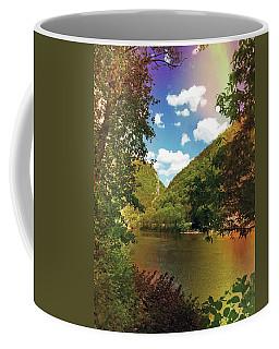 Rainbow On  Delaware River  Coffee Mug