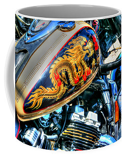 Coffee Mug featuring the photograph Golden Dragon by Adrian LaRoque