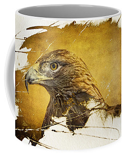 Golden Eagle Grunge Portrait Coffee Mug
