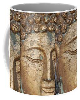 Golden Faces Of Buddha Coffee Mug