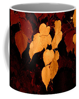 Golden Fall Leaves Coffee Mug