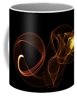 Coffee Mug featuring the digital art A Golden Flame by Diana Mary Sharpton