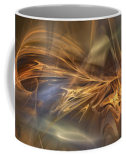 Coffee Mug featuring the digital art Golden Flame by Mary Almond