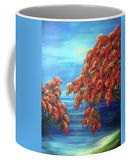 Golden Flame Tree Coffee Mug