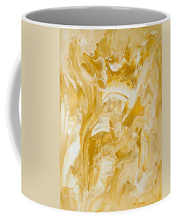 Coffee Mug featuring the painting Golden Flow by Irene Hurdle