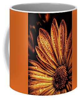 Golden Flower Coffee Mug by Lilia D
