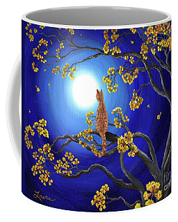 Golden Flowers In Moonlight Coffee Mug