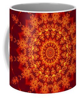 Golden Fractal Mandala Daisy Coffee Mug