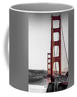 Golden Gate Black And Red Coffee Mug