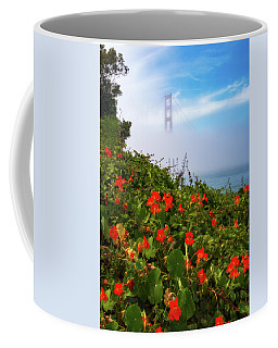 Coffee Mug featuring the photograph Golden Gate Blooms by Darren White