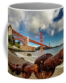 Coffee Mug featuring the photograph Golden Gate Bridge And Ft Point by Bill Gallagher