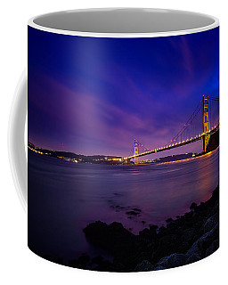 Golden Gate Bridge At Night Coffee Mug