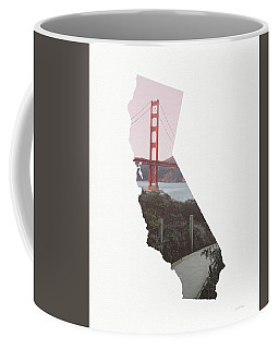 Coffee Mug featuring the mixed media Golden Gate Bridge California- Art By Linda Woods by Linda Woods