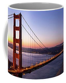 Golden Gate Bridge During Sunrise Coffee Mug
