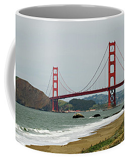 Golden Gate Bridge From Baker Beach Coffee Mug