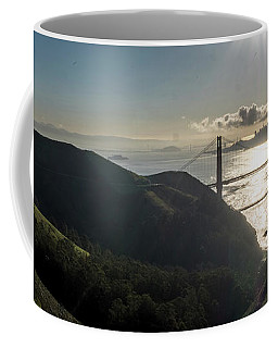 Golden Gate Bridge From The Road Up The Mountain Coffee Mug