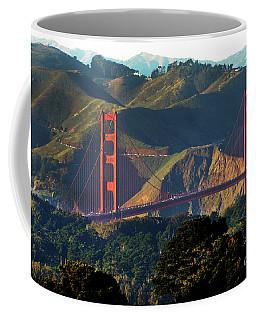 Coffee Mug featuring the photograph Golden Gate Bridge by Steven Spak