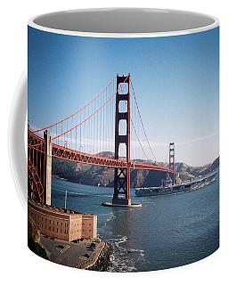 Golden Gate Bridge With Aircraft Carrier Coffee Mug