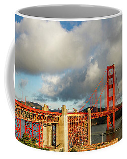 Coffee Mug featuring the photograph Golden Gate From Above Ft. Point by Bill Gallagher