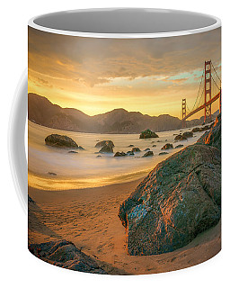 Coffee Mug featuring the photograph Golden Gate Sunset by James Udall