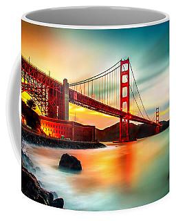 Golden Gateway Coffee Mug by Az Jackson