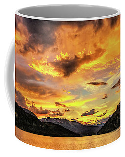 Golden Glow At Summit Cove Pano Coffee Mug