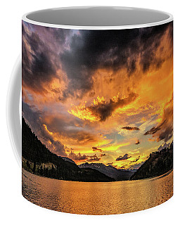 Golden Glow Sunset At Summit Cove Coffee Mug