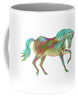 Golden Green Coffee Mug by Elizabeth Lock