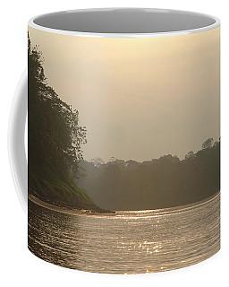 Golden Haze Covering The Amazon River Coffee Mug