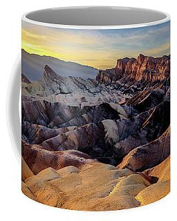 Golden Hour Light On Zabriskie Point Coffee Mug