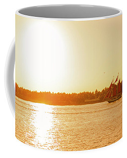 Golden Hour Sailing Ship Coffee Mug