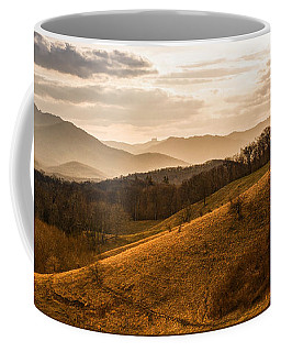 Grandfather Mountain Sunset - Moses Cone Blue Ridge Parkway Coffee Mug