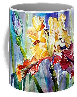 Golden Iris Coffee Mug by Mindy Newman