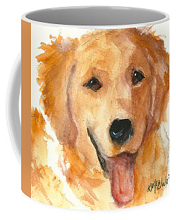Golden Retriever Watercolor Painting By Kmcelwaine Coffee Mug