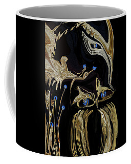 Golden Lady And The Owl Coffee Mug