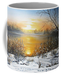 Golden Lake Sunrise  Coffee Mug by Vesna Martinjak