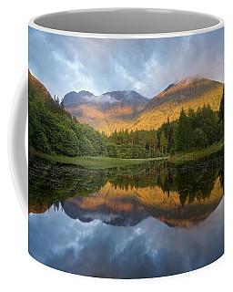 Golden Light At The Torren Lochan Coffee Mug