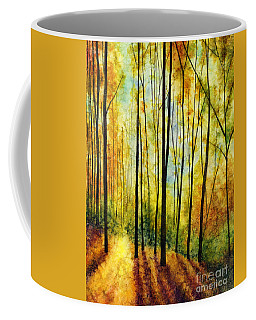Coffee Mug featuring the painting Golden Light by Hailey E Herrera