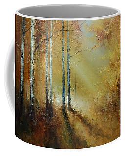 Golden Light In Autumn Woods Coffee Mug