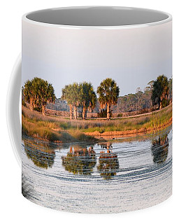 Golden Light On The St. Marks Marshes Coffee Mug