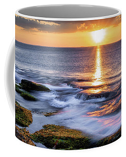 Coffee Mug featuring the photograph  Golden Light Sunset, Rockport  Ma. by Michael Hubley