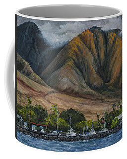 Coffee Mug featuring the painting Golden Light West Maui  by Darice Machel McGuire