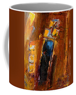 Coffee Mug featuring the painting Golden Lights by Elise Palmigiani