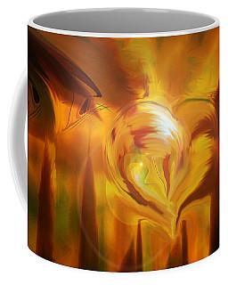 Coffee Mug featuring the digital art Golden Love by Linda Sannuti