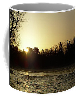 Coffee Mug featuring the photograph Golden Mississippi River Sunrise by Kent Lorentzen