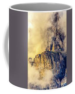 Golden Mist On Cathedral Mountain Coffee Mug