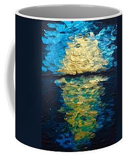 Golden Moon Reflection Coffee Mug