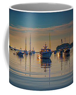 Coffee Mug featuring the photograph Golden Morning In Tenants Harbor by Rick Berk