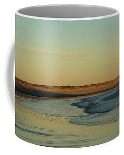 Coffee Mug featuring the photograph Golden Morning On Rhode Island Coast by Nancy De Flon