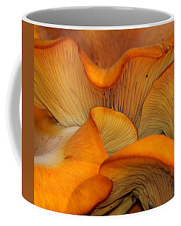 Golden Mushroom Abstract Coffee Mug
